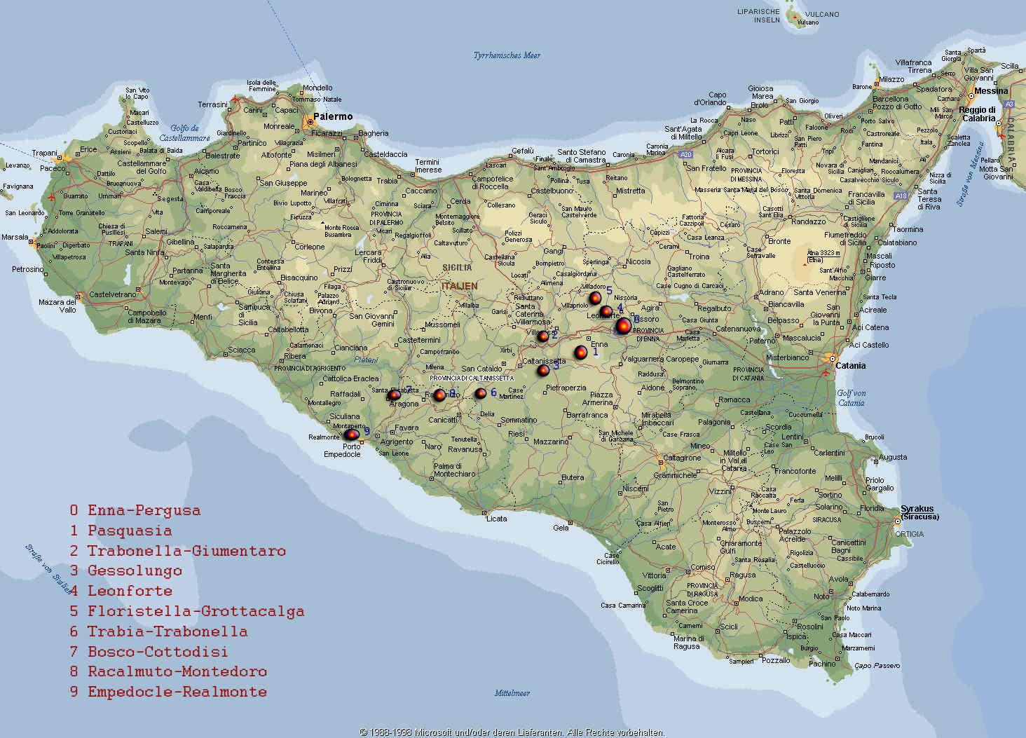 Karte Von Sizilien Goudenelftal